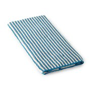 Striped Hand Towel - Teal/Vanilla